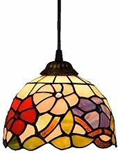 8-zoll American Glasmalerei Kronleuchter Tiffany