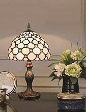 8-Zoll europäischen Retro Glasmalerei White Pearl