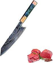 8-Zoll-Küchenchef Messer Damaskus VG10 Messer