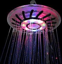 8-Zoll-Led-Dusche Romantische Beleuchtung Wasser