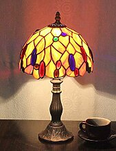 8 Zoll Pastorale Glasmalerei Farbige Perlen