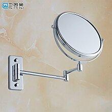 8 ZollDie Badezimmer sind mit einem an der Wand montierten Drehschalter Schminkspiegel eingeklappte Spiegel wc Teleskopspiegel duplex Badewanne vergrößern Kosmetikspiegel