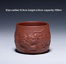80/100 ml Yixing Zisha Teetasse, handgefertigt,