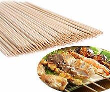 80-90 Stück Holz Bambus-Spieße Grill-Party Shish