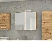 80 cm x 64 cm Spiegelschrank Waithman mit