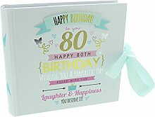 80. Geburtstag Damen Rosa und Gold Signography