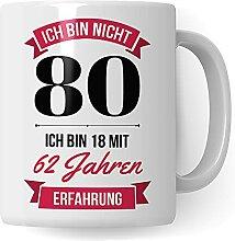 80. Geburtstag Frauen Tasse - Deko Geschenk 80