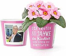 80.Geburtstag Geschenk - Blumentopf (ø16cm) |
