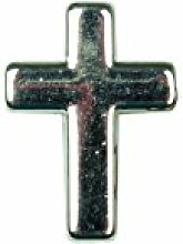 80 Glanz Kreuze mit Loch schlicht AS , silber ca. B:3cm/H:5,5cm