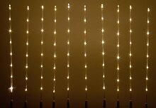 80 LED warm weiß Wegbeleuchtung Weihnachtsbeleuchtung Lichterkette Energiespar