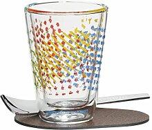 80 ml Kaffeeglas A Cuppa Day mit Untersetzer