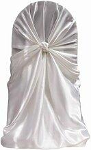 80Satin Universal selbst Krawatte Stuhl deckt Hochzeit Party Dekorationen versandkostenfrei 2Farbe weiß