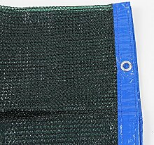 80% schwarz Sonne Schatten Tuch Sichtschutz Panel mit Ösen–UV-Beständig Stoff für Terrasse/Pergola/Wohnmobil-Vorzel