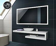 80 x 60 cm Design Badspiegel mit LED Beleuchtung Badezimmerspiegel von Artforma | Wandspiegel mit Touch Schalter oder Sensor Schalter