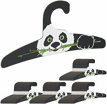 80 x Kinderkleiderbügel, Panda Design,