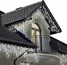 800 LED Eisregen Lichterkette Eisregen mit mit 8