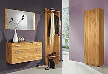 8003 - Garderobe Set mit Spiegel, 4-teilig, in