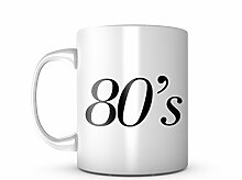 80s Decade Keramik Tasse Kaffee Tee Becher Mug