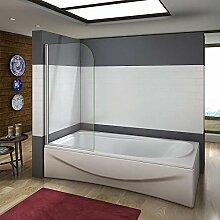 80x140cm Badewannenaufsatz Duschabtrennung