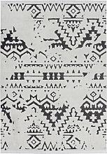 80x150 Teppich Agadir 110 Weiß / Schwarz von