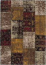 80x150 Teppich Cambodia - Phnom Penh Rot von Lalee
