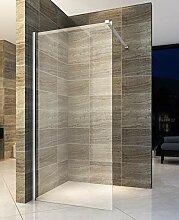 80x200cm Walk In Dusche Begehbare Duschwand Glas