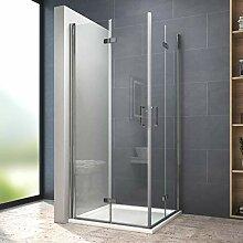 80x80 cm Duschkabine Doppelt Duschtür |