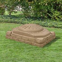 81,2 cm rechteckiger Sandkasten mit Schutzbezug