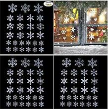 81 Schneeflocken-Fensteraufkleber für