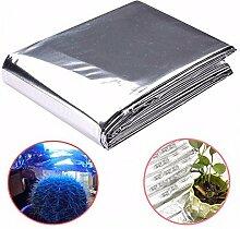 82x47 Zoll Silber Pflanze Reflektierende Film