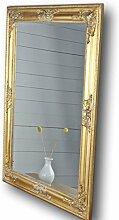 82x62cm rechteckiger Wand-Spiegel, handgefertigter Vintage-Antik-Rahmen aus Holz, gold, inkl. Befestigung