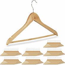 84 x Kleiderbügel, Hosenbügel aus Holz,
