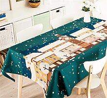 85*85cm Grün schneeflocke Skandinavisch Instagram Tischdecken Baumwolle leinen Esstisch Rezeption rechteckigen quadrat nicht bügeln umweltfreundlich Tischtuch