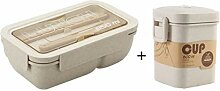 850 ml Weizenstroh Lunch Box gesundes Material
