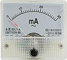 85L1-A AC 0-30mA Rectangle Analog AMP Ammeter