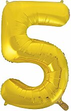 86,4cm Folie gold Zahl 0Ballon 5 5 5