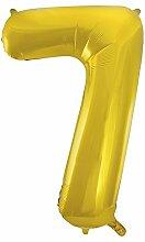86,4cm Folie gold Zahl 0Ballon 7 7 7