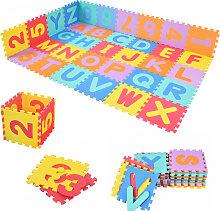86 tlg Puzzlematte Spielmatte Kinderteppich