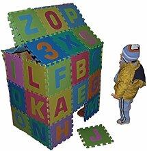 86tlg Spielmatte Kinderteppich Puzzlematte