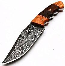 8998 Handgefertigtes Damast-Gerber-Messer mit