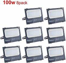 8er 100W LED Strahler 10000LM Superhell Fluter