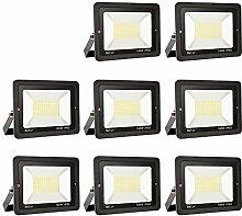 8er 100W LED Strahler Außen Superhell LED Fluter