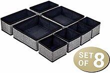 8er Set Aufbewahrungsbox für Schubladen Organizer