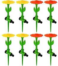 8er Set Blumen Wassersprenger Rasensprenger