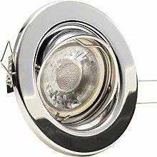 8er Set Einbaustrahler DECORA; 230V; LED 4W = 40W;