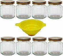 8er Set Einmachglas 120 ml Gewürzglas mit