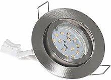 8er Set FLACHE Einbaurahmen Spot » LED