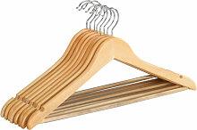 8er Set Kleiderbügel Bügel Holz Wäschebügel