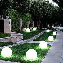 8er Set LED Außen Solar Lampen Kugel Design Erd
