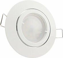 8er-Set LED Einbaustrahler PAGO 230V Farbe: Weiß